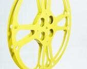 Vintage Yellow Film Reel