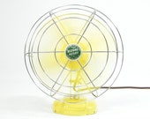 Reserved Listing for Cherri     Vintage Electric Fan Yellow