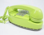 1979 Vintage Phone chartreuse push button telephone