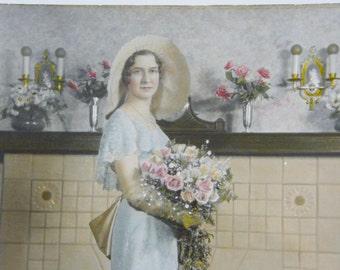 Vintage Wedding Photo beautiful Bride