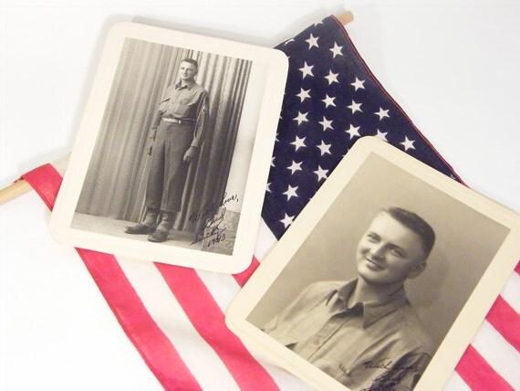 Vintage WWII Soldier Boy photo