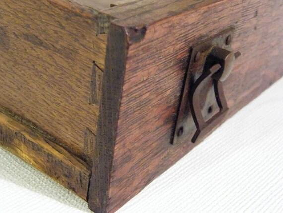antique wooden drawer