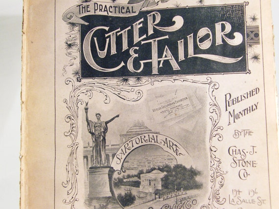 1896 Cutter Tailor sewing magazine pages