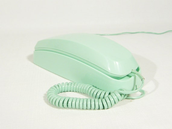 Mint green telephone