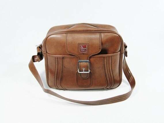 Brown Zipper Tote Bag