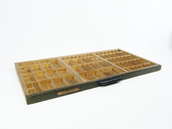 wooden printers tray Vintage