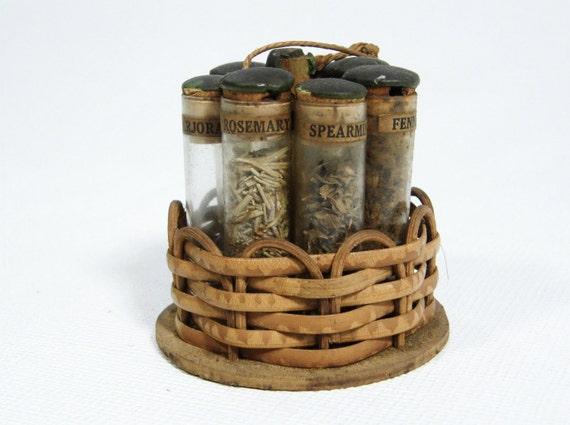 Antique Herb Glass Vials