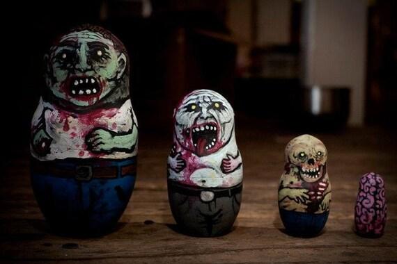 zombie babushka dolls