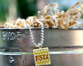 FSU Scrabble tile necklace w/ 23 inch ball chain