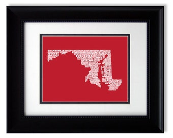 State of Maryland - The Free State Poster Print (Personalization Available)