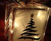 Christmas Tree glass block Light