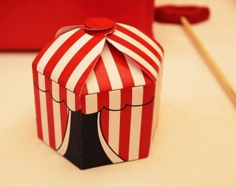 Choose Your Color Circus/Carnival Party Favor Box PRINTABLE/DIY Decorations