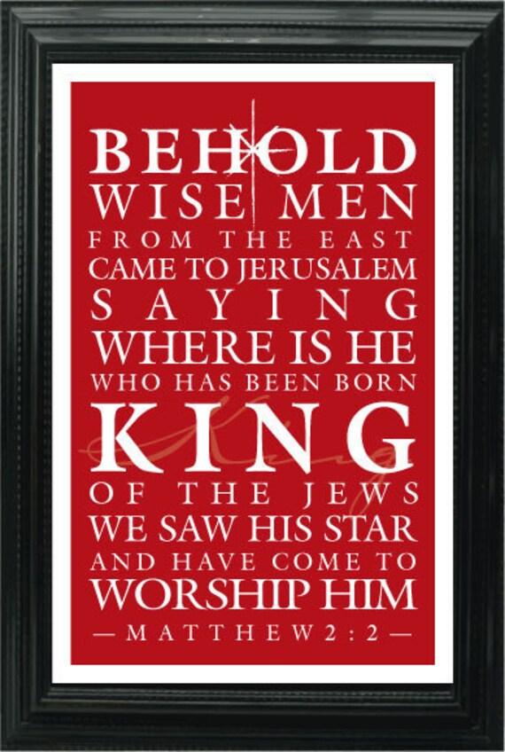 Christmas Bible Verse Printable Subway Art by lavenderlimedesigns