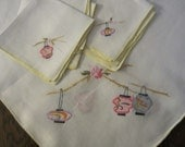 Vintage embroidered tablecloth table topper