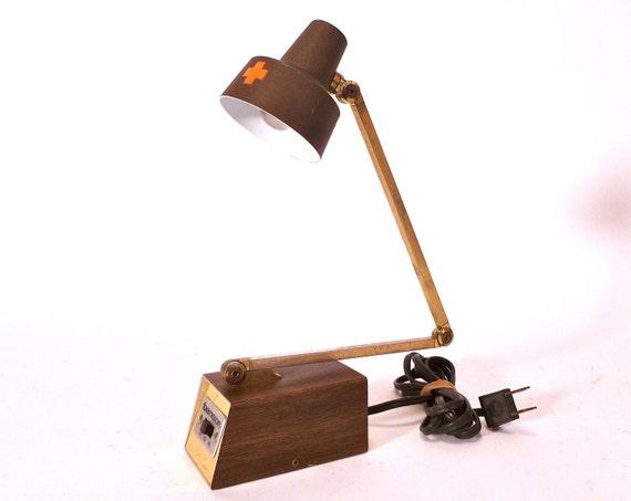 Small Brown Vintage Tensor Light / Desk Lamp / Reading Light