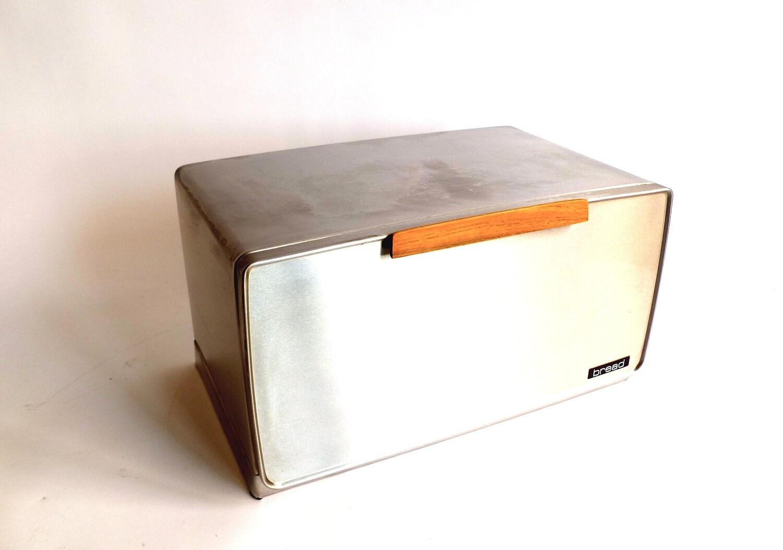 vintage 's metal bread box  modern bread drawer - 🔎zoom