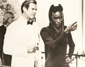 "Roger Moore - James Bond - 007 - Grace Jones -  A View To A Kill - Vintage Movie Still - 9.25"" x  7"""