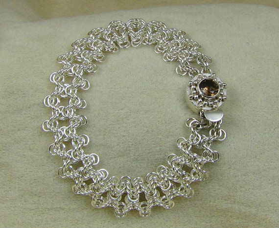 Olivia Weave Sterling Silver Chainmaille Bracelet