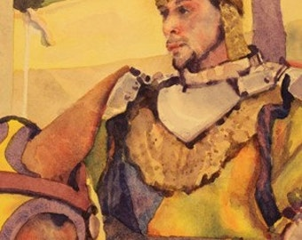 Original water color - The Knight