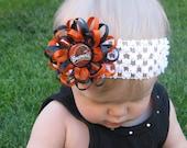 Oregon State Beavers Flower Loop Bow with Headband