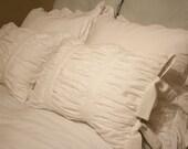 Ruched Cotton Pillow Sham