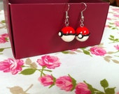Polymer Clay Pokeball Dangle Earrings