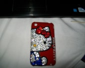 Hello Kitty Swarovski kitty iphone3 case1 year anniversary for etsyand me so free shipping everywhere