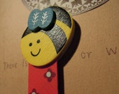Busy Bee (Wooden Bookmark)