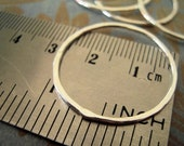 Sterling Silver 16ga handmade lightly hammered Circles 27mm or 1 inch (1)