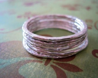 Sterling Silver 15ga handmade textured Circle 1 inch (1)