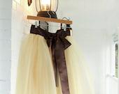 Gold Adult tutu, prom dress, tutu skirt, brown tutu, sewn tutu, chic tutu, brides maid tutu
