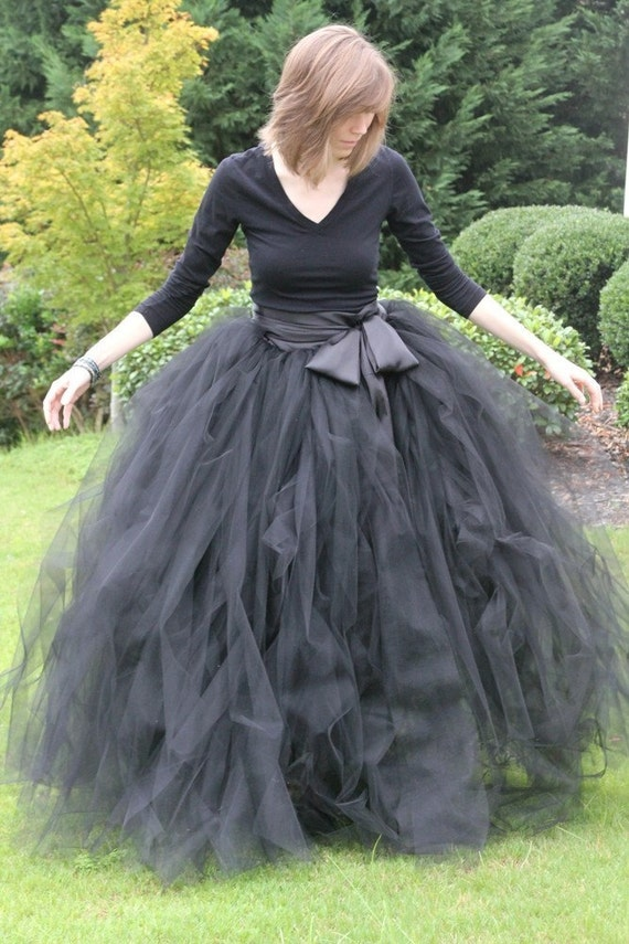 Long Tutus For Adults Black Adult Tutu Long Black