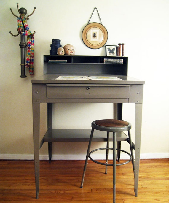 RESERVED Industrial Factory Drafting Desk : Vintage Levi Strauss & Co.