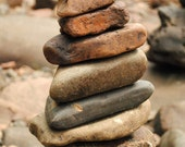 The Stacks 2 - 5x7 Fine Art Photography - Lake Superior Rock Stacking - Duluth Minnesota - Professional Photography - POE Member