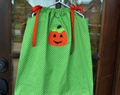 Jack o Lantern Pumpkin Halloween Thanksgiving Fall Pillowcase Dress 0-14