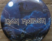 Vintage Iron Maiden Live After Death Tour Concert Button Pin