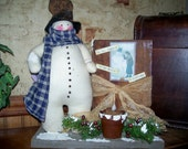 Primitive In The Meadow Snowman - Made to order