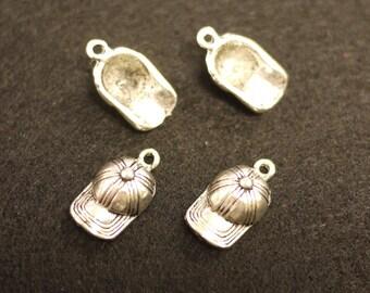 Tibetan Silver Hat Charms Pendants 5x13mm -  5pcs (Z-0007)