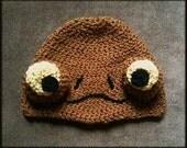 Crochet hat inspired by Admiral Ackbar