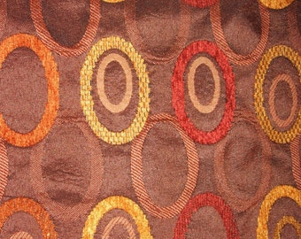 Retro cool ovals on brown