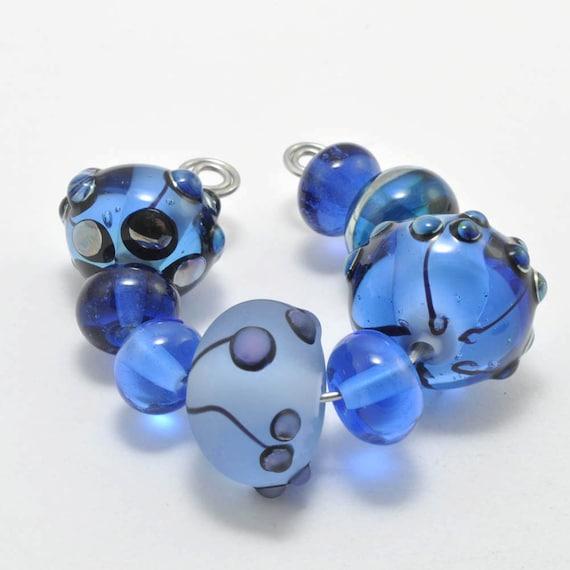 Summer Skies : Handmade Lampwork Beads