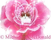 Rose Fairy Cat Temporary Tattoo by Michaeline