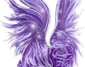 Purple Fairy Cat Temporary Tattoo by Michaeline