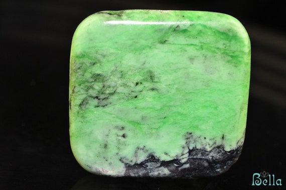 30mm Natural CHRYSOTINE Square Bead Pendant R0407E