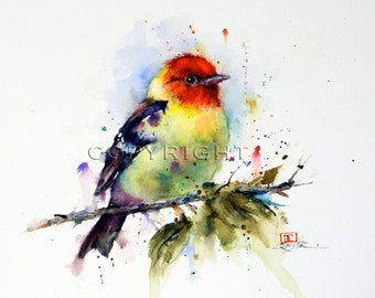 TANAGER Ceramic Tile by Dean Crouser Watercolor