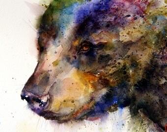 BLACK BEAR Watercolor Print By Dean Crouser