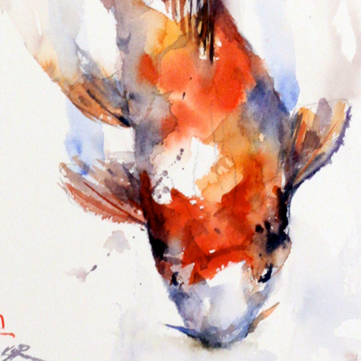Koi original watercolor painting by dean crouser for Original koi fish