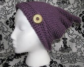 Slouchy Gnome Beanie in Plum