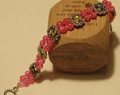 Reserved for LilJammers - Hot Pink Iconography Bracelet
