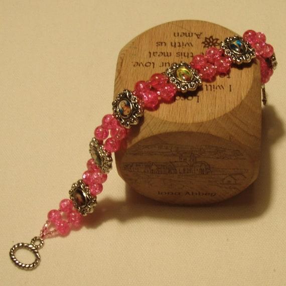 Reserved for LilJammers - Hot Pink Iconography Bracelet
